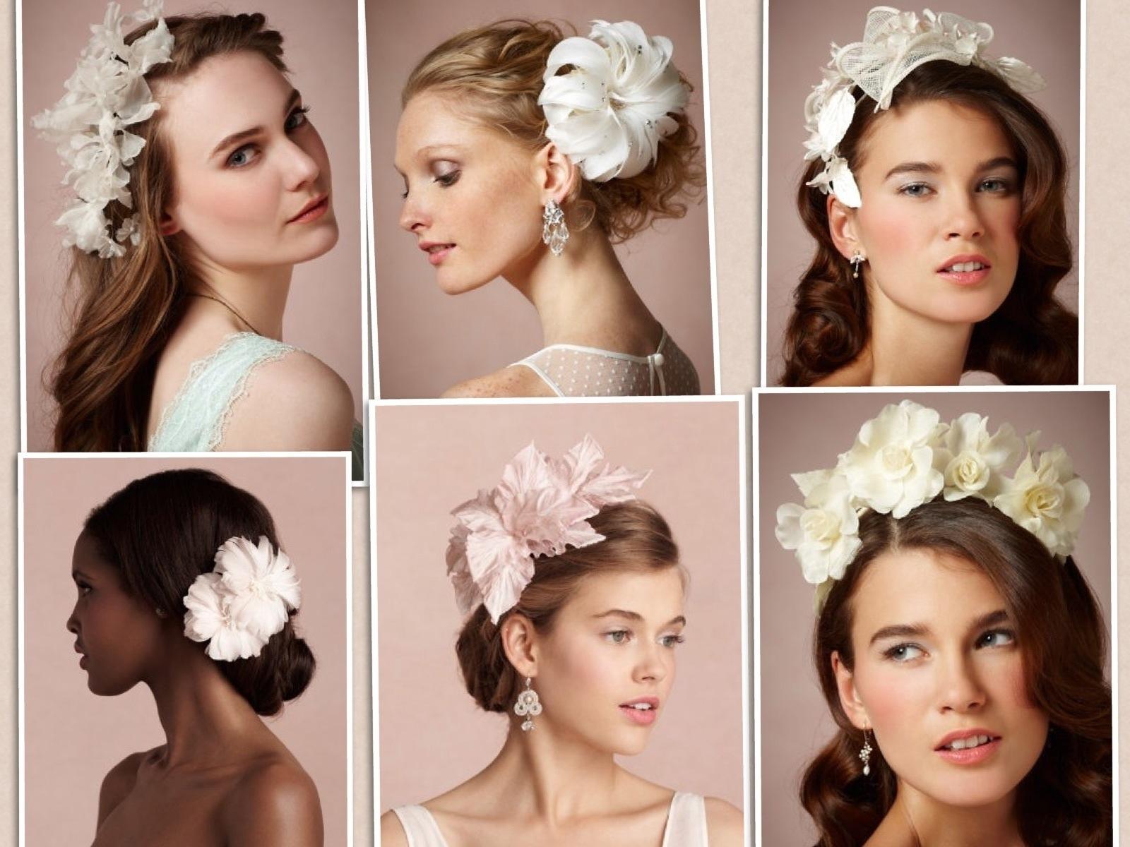 Flor del pelo de la boda