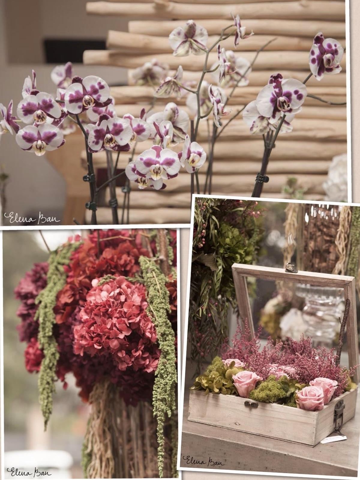 País flores de la boda